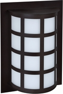 Besa SCALA13-SW-BK Scala Contemporary Black Satin White Exterior Wall Mounted Lamp