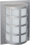 Besa SCALA13-SW-LED-SL Scala Contemporary Silver Satin White LED Exterior Wall Lighting Fixture