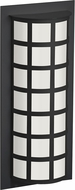 Besa SCALA20-WA-BK Scala Contemporary Black White Acrylic Exterior Wall Sconce Lighting