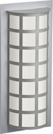Besa SCALA20-WA-SL Scala Modern Silver White Acrylic Outdoor Wall Lighting Sconce