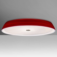 Besa SOPHI14RDC Sophi Contemporary Red Halogen 14  Flush Mount Ceiling Light Fixture