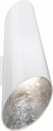 Besa SOSA18SF Sosa Contemporary White Silver Foil Wall Light Fixture
