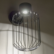 Besa SULTANA-C-WALL-LED-BK Sultana Contemporary Black  LED Outdoor Wall Lighting Sconce