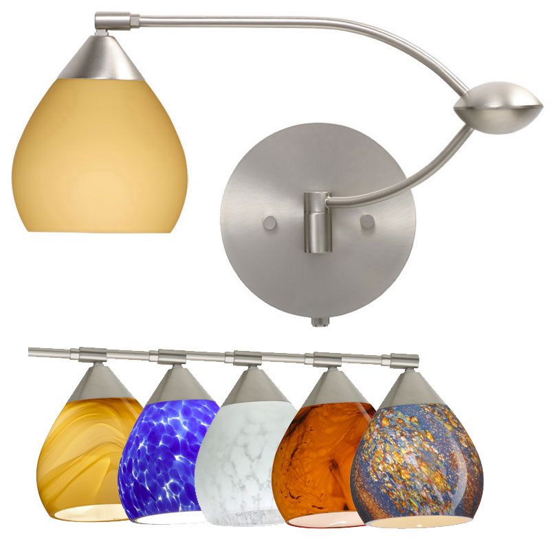 Besa Tay Double Swing Arm Wall Lamp Variety Of Gl Choices Bes Taytayswingarm