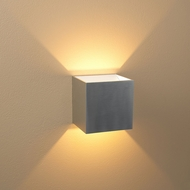 Bruck 103040AL-WH-3 QB Modern Brushed Aluminum Exterior / White Interior LED Wall Sconce