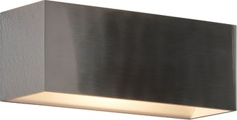 Bruck 103070AL QB Contemporary Brushed Chrome LED Wall Sconce