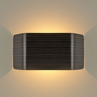 Bruck 103100BK-3-90 Zen Contemporary Black LED Wall Mounted Lamp