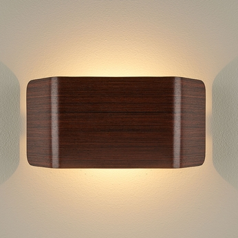 Bruck 103100MHG-3-90 Zen Modern Mahogany LED Wall Light Sconce