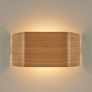 Bruck 103100OAK-3-90 Zen Contemporary Oak LED Wall Lighting Fixture