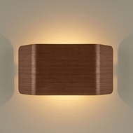Bruck 103100WNT-3-90 Zen Modern Walnut LED Wall Light Sconce