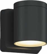 Bruck 105015BK Outdoor Cylinder Modern Black LED Outdoor Light Sconce