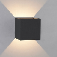 Bruck 105040BK QB Contemporary Black LED Outdoor Wall Light Sconce