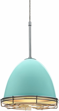 Bruck 110903-WIRE Classic Modern Larkspur Blue Line Voltage Mini Hanging Lamp