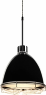 Bruck 113901-WIRE Classic Contemporary Black LED Line Voltage Mini Hanging Pendant Light