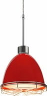 Bruck 113902-WIRE Classic Modern Gypsy Red LED Line Voltage Mini Pendant Hanging Light
