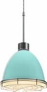 Bruck 113903-WIRE Classic Contemporary Larkspur Blue LED Line Voltage Mini Hanging Light Fixture