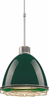 Bruck 113904-WIRE Classic Modern British Racing Green LED Line Voltage Mini Drop Lighting