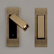 Bruck 137120BB-3-40 Letto Modern Brushed Brass LED Swing Arm Wall Lamp