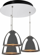 Bruck 240010CH-3-ELV-110905CH Matrix Contemporary Chrome / Smoky Metal Multi Pendant Hanging Light