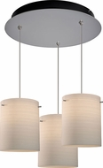 Bruck 240010MC-3-ELV-110872MC Regal Contemporary Matte Chrome / White Multi Drop Lighting