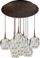 Bruck 240011BZ-11-ELV-223950BZ Aurora Modern Bronze / Clear LED Multi Ceiling Pendant Light