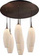 Bruck 240011BZ-7-ELV-223119BZ Ciro Contemporary Bronze / White LED Multi Pendant Hanging Light