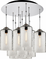 Bruck 240011CH-11-ELV-110930CH Delta Modern Chrome / Amber Multi Drop Lighting Fixture