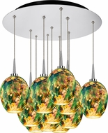 Bruck 240011CH-11-ELV-223339CH Bolero Modern Chrome / Typhoon LED Multi Hanging Light