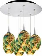 Bruck 240011CH-7-ELV-223339CH Bolero Contemporary Chrome / Typhoon LED Multi Hanging Lamp