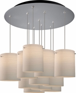 Bruck 240011MC-11-ELV-110872MC Regal Modern Matte Chrome / White Multi Ceiling Pendant Light