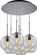 Bruck 240011MC-7-ELV-110970MC Bobo Contemporary Matte Chrome / Clear Multi Drop Lighting