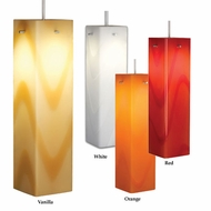 Bruck Houston 12 Inch Tall Modern Style Colored Glass Pendant Light