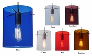 Bruck London Colored Glass 9 Inch Tall Mini Pendant Hanging Lamp