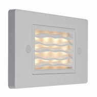Bruck Step I Contemporary LED Horizontal Wave Exterior Step Light