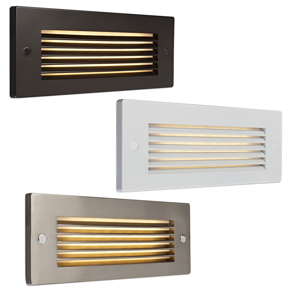 Lighting Basement Washroom Stairs: Bruck Step II Contemporary LED Horizontal Louver Exterior