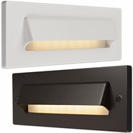 Bruck Step II Modern LED Horizontal Hood Outdoor Step Lighting