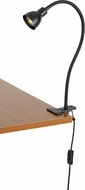 Cal BO-129-DB Gooseneck Modern Dark Bronze LED Clip On Lamp / Desk Light