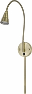 Cal BO-139-AB Gooseneck Modern Antique Brass LED Wall Swing Arm Lamp
