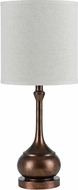 Cal BO-2256TB-RU Tapron Rust Accent Table Light