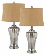Cal BO-2364TB/2 Marfa 31 Inch Tall Aged Glass Transitional Table Top Lamp - Pair
