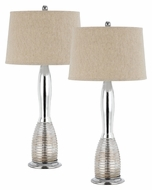 Cal BO-2367TB/2 Tarpon Paired Chrome Finish 32 Inch Tall Modern Lamps