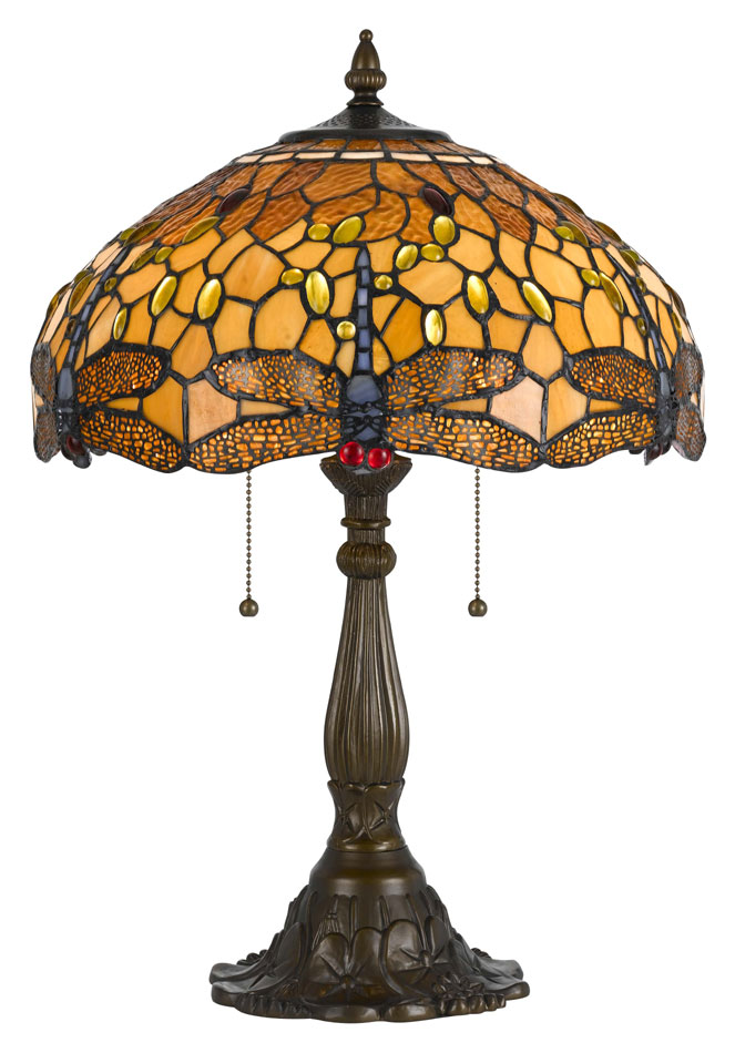 Cal Bo 2372tb Dragonfly 23 Inch Tall Antique Brass Finish