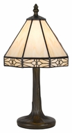 Cal BO-2385AC 13 Inch Tall Antique Brass Finish Accent Lamp - Tiffany