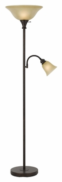 Cal BO-2391TR-RU 71 Inch Tall Rust Finish Torch Lamp With Reading Light