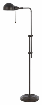 Cal BO-2441FL-RU Croby Rust Finish Transitional Pharmacy Floor Lamp - 58 Inches Tall