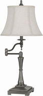 Cal BO-2443SWTB-AS Madison Antiqued Silver Table Lamp