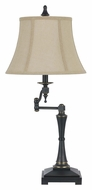Cal BO-2443SWTB Madison Traditional Swing Arm 31 Inch Tall Table Top Lamp