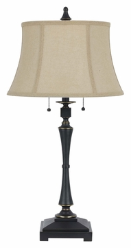 Cal BO-2443TB Madison 31 Inch Tall Oil Bronze Traditional Table Lamp
