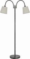 Cal BO-2444FL-AS Gail Antiqued Silver Floor Lamp Light