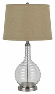 Cal BO-2446TB Transitional 28 Inch Tall Smoked Finish Table Light